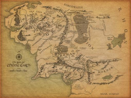 La Tierra Media de J.R.R. Tolkien