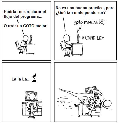 ¿Por qué no usar GOTO?