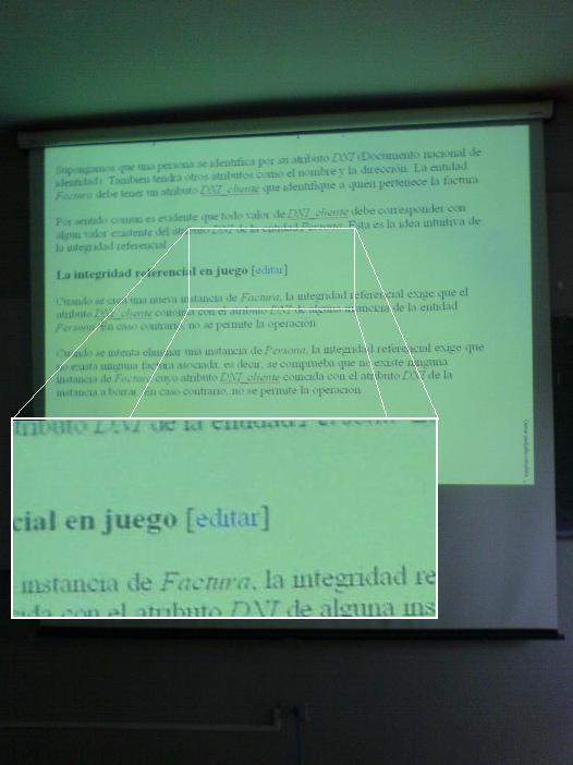 La diapositiva de Gámez