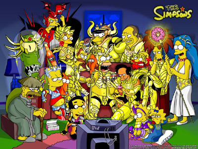 Saint Seiya version Los Simpsons