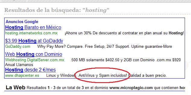 Antivirus y Spam incluidos